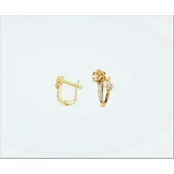 """Auksiniai auskarai """"Gėlės"""""""
