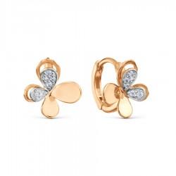 Auksiniai auskarai su Fianitais