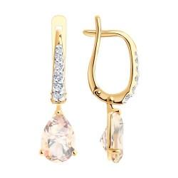 Auksiniai auskarai su Topazu