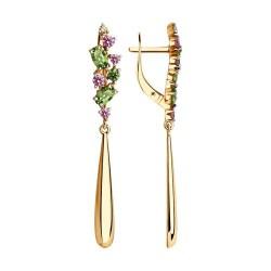 Auksiniai auskarai su Swarovski