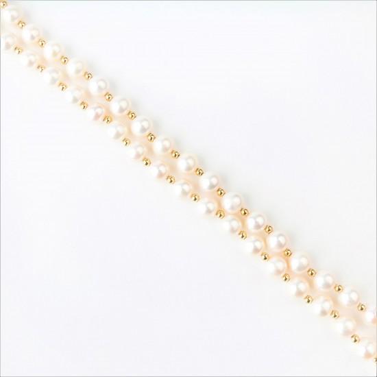 Auksinė grandinėlė su perlais