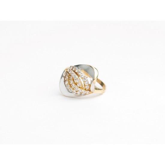 Auksinis žiedas su akute