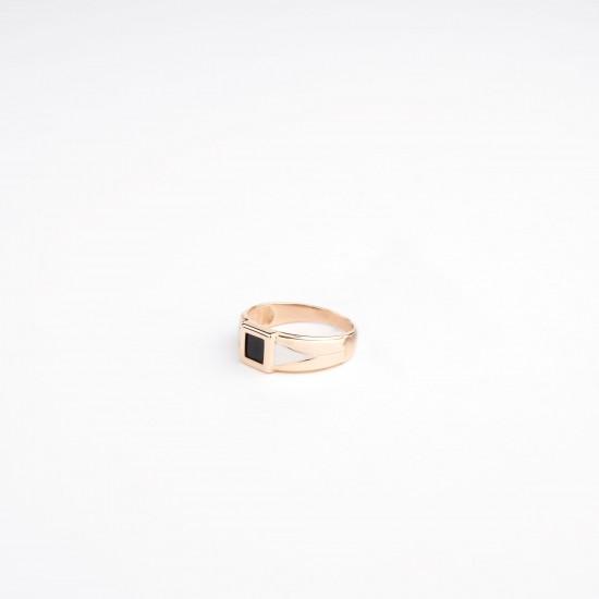 Auksinis žiedas su špineliu
