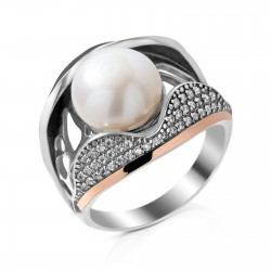 Sidabrinis žiedas su Perlu