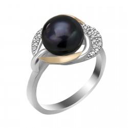 Sidarinis žiedas su Perlu