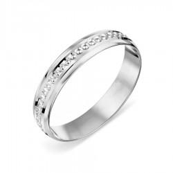 Vestuvinis žiedas balto aukso