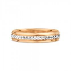 Vestuvinis žiedas su baltu auksu