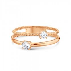 Auksinis žiedas su Fianitais
