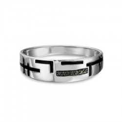 Sidabrinis žiedas su Deimantu