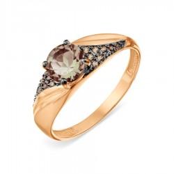 Auksinis žiedas su Dūminiu Topazu