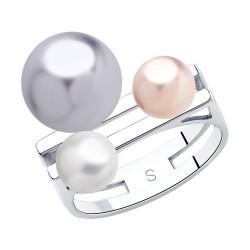 """Sidabrinis moteriškas žiedas """"Perlai"""""""