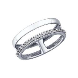 Sidabrinis žiedas su Fianitais
